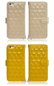 スマホケース アイフォンX iPhoneX 専用 @ ハートエナメル ベルト付き ダイアリー型 スマホ 手帳型 apple FJ6185