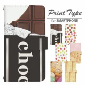 sc01g GALAXY Note Edge SC-01G 手帳型 スマホ デザインケース おかし di038 ★ユニーク 手帳 カバー お菓子 スイーツ チョコレート クッ