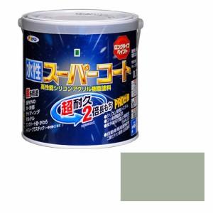 アサヒペン ペンキ 水性スーパーコート 水性多用途 ソフトグレー 0.7L