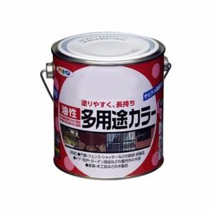 アサヒペン 油性多用途カラー 0.7L グレー