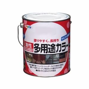 アサヒペン 油性多用途カラー 1.6L ソフトグレー