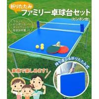"""""""折りたたみファミリー卓球台セット(ピンポン台) TAN-595"""""""