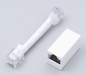 (まとめ買い)ELPA LAN用極性変換キット Cat6 TEA-106 〔×3〕