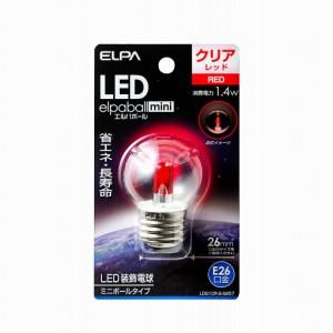 (まとめ買い)ELPA LED電球 G40 E26 LDG1CR-G-G257 〔×3〕