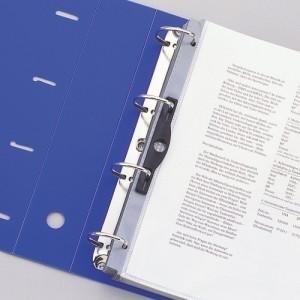リヒトラブ D型リングファイル A4 白 G1280-0