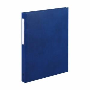 (まとめ買い)リヒトラブ カルテブック 厚型タイプ A4S 4穴 ブルー HB437-1 〔3冊セット〕