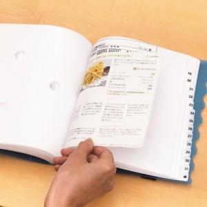 (まとめ買い)リヒトラブ スケジュール&仕分けファイル 31仕切り A5S 赤 A-4405-3 〔3冊セット〕