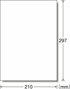 (まとめ買い)エーワン フリーラベルワイド 手書き用 ノーカット 500シート 06196 〔×3〕