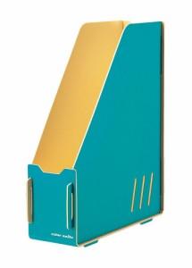 (まとめ買い)キングジム デスクマガジンボックス カラーユニッツ 青 7521アオ 〔3個セット〕