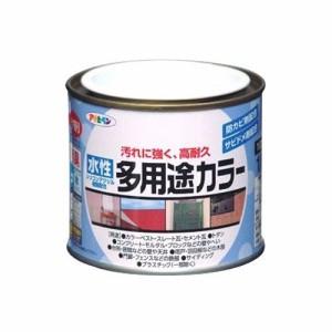 (まとめ買い)アサヒペン 水性多用途カラー 1/5L ミルキーホワイト 〔5缶セット〕