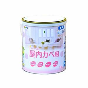(まとめ)アサヒペン NEW水性インテリアカラー屋内カベ 1.6L シャーベットグリーン〔まとめ買い×3セット〕