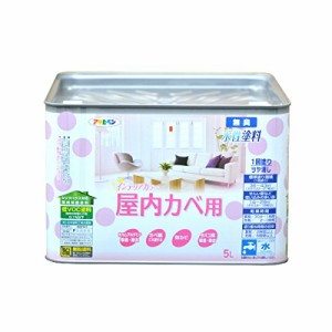 (まとめ買い)アサヒペン NEW水性インテリアカラー屋内カベ 5L ホワイトグリーン 〔3缶セット〕
