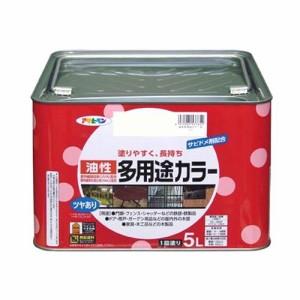 (まとめ買い)アサヒペン 油性多用途カラー 5L アイボリー 〔3缶セット〕
