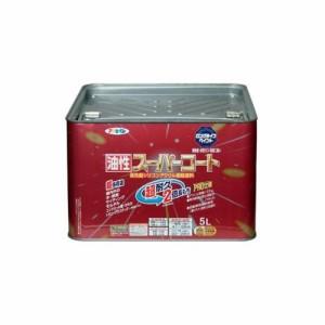 (まとめ買い)アサヒペン 油性スーパーコート 5L 銀黒 〔3缶セット〕
