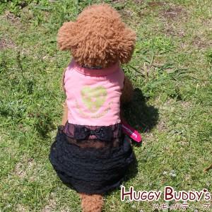 """hs1401a ハートのチュチュワンピース/ピンク (XSサイズ)HUGGY BUDDY'S(ハギーバディーズ) 犬服 ドッグウェア"""