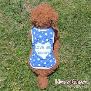 """""""hs1402a_s ハートのラブミーバディタンク/ブルー 小型犬用 (XSサイズ)HUGGY BUDDY'S(ハギーバディーズ) 犬服 ドッグウェア"""""""
