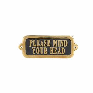 ダルトン ブラスサイン マインド ユア ヘッド タイプ2 BRASS SIGN PLEASE MIND YOUR HEAD TYPE-2 GS559-326MYH2