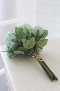 (まとめ買い)COVENT GARDEN オールドブルーローズ・ブーケ 造花 人工観葉植物 TG-37 〔×4〕