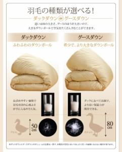 【送料無料】9色から選べる!羽毛布団 グースタイプ 掛け布団 シングル シルバーアッシュ