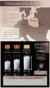 【送料無料】ポーランド産ホワイトダックダウン90% ロイヤルゴールドラベル 羽毛掛け布団【Selena】セミダブル サイレントブラック