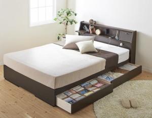 棚・照明・コンセントつき多機能ベッド〔Volonta〕〔日本製ボンネルコイルマットレス〕 シングル ホワイト