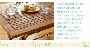 アカシア天然木 折りたたみ式ナチュラルガーデンファニチャー 〔Relat〕リラト ガーデンチェアのみ(2脚組) 肘付 単品販売 ホワイト