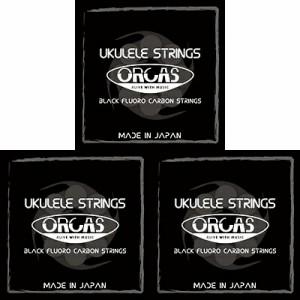 ORCAS(オルカス):日本製 「OS-LGT LG×3セット:ソプラノ、コンサート用ライト・ゲージ/4弦:LOW-G」 国産のウクレレ弦セット 【送料無