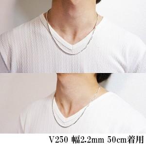 シルバーベネチアンチェーン 幅2.5mm 60cm/送料無料/シルバーネックレスチェーン/シルバー925/メンズ