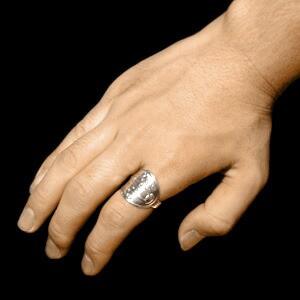 マリア像のメダイ(不思議のメダイ)シルバーリング 17〜23号/指輪/メンズ/シルバー925/大きいサイズ