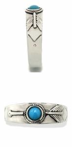 ターコイズ(トルコ石)シンプルアローシルバーリング 7〜23号  /メンズリング レディース 指輪 シルバーアクセサリー シルバー925 弓矢