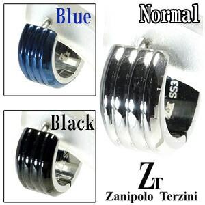 3カラートリプルスリットステンレスフープピアス(1P片耳)【ZanipoloTerzini】サージカルステンレス/ピアス/フープ/メンズ/片耳/ブランド