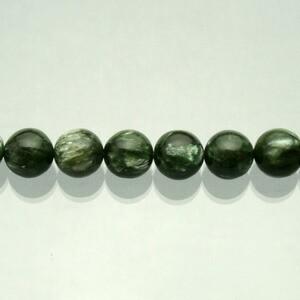 【セラフィナイト 10mm】 天然石 ビーズ(丸) 2玉セット /天然石 パワーストーン アクセサリー バラ売り ばら売り 粒売り クリノクロア
