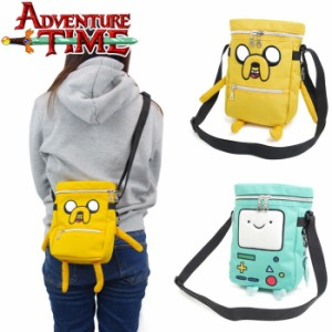 ADVENTURE TIME ショルダーバッグ 子供 ショルダーポーチ ボックス型 ショルダーポーチ 斜めがけ ポーチ 遠足