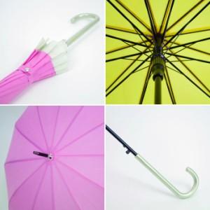 レビューを書いて送料200円引き 雨傘 レディース ジャンプ傘 12本骨撥水 金平糖 JK-63 雨に濡れると柄が浮き出る♪UVカット