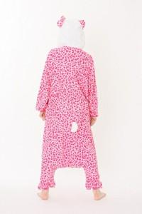 ハロウィン 衣装 着ぐるみ 大人用 フリース 仮装 コスプレ コスチューム サンリオ キャラクター ヒョウ柄 ハローキティ ピンク