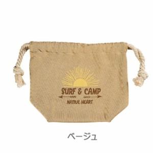 NH SURF&CAMP 巾着袋 弁当袋 ランチバッグ 巾着 給食袋 お弁当入れ 小物入れ 弁当グッズ