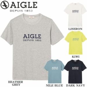 【郵 メール便 送料無料 】エーグル/AIGLE Tシャツ メンズ 半袖 ブランド 抗菌防臭加工 ポリジン ロゴTシャツ 全5色 M/L ZTH002C