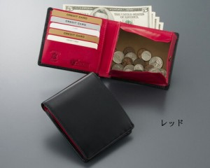 名入れ無料 ダブルブライドルレザー 二つ折り 財布  サイフ xmall xmgs[誕生日 プレゼント ギフト 記念日 ウォレット 本革 牛革]