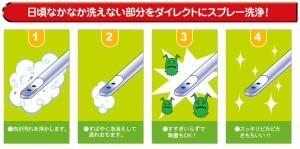 【Ag配合】新・温水洗浄便座トイレのノズル洗浄剤(※画像とノズルの形状が若干異なります)#18