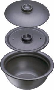 陶器製ご販膳2合炊き(秋田美佐子先生レシピ付き) CNB1 #10