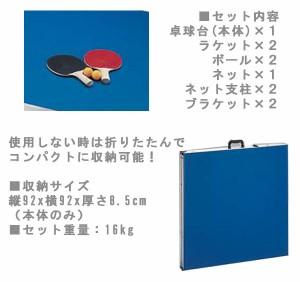 【送料無料】折りたたみ式ファミリー卓球台セット M-1505 #21