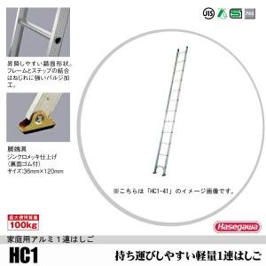 【送料無料】1連はしご全長3.1m軽量タイプHC1-31【メーカー直送】【北海道、沖縄、離島は別途送料となります】