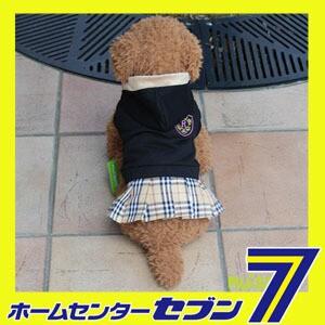 【ra13010b】エンブレムチェックスカートワンピース/ブラック(XS-XLサイズ)【ルイスペット】 ドッグウェア