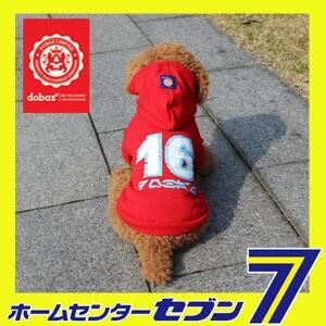 16ロゴ パーカー レッド (S-2XL、DM、DLサイズ)【dobaz ドバズ】【メール便送料無料】【edj08001a】【犬 服 犬の服 ドッグウェア】