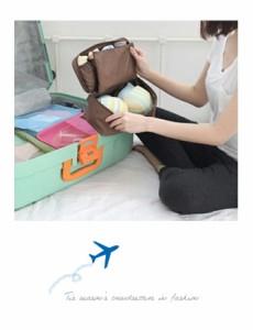 【ラストチャンSALE】旅行 ポーチ 旅行用品 旅行用インナーバック 旅行用バッグ 旅行グッズ トラベル用品 トラベル【 FCBK 】