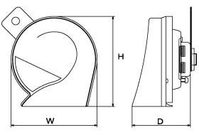 【在庫あり】ミツバサンコーワ MBW-2E23R アリーナIII ホーン 【カー用品】【メール便不可】