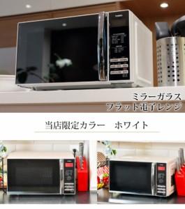 (当店限定カラー!)ツインバード ミラーガラス電子レンジ DR-D269W ホワイト 庫内容量20L(ラッピング不可)