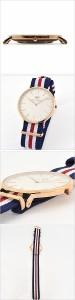 【送料無料】【送料無料】ダニエルウェリントン腕時計 クラシック カンタベリー ローズ メンズ/レディース/ユニセックス腕時計/オフホワ