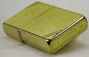 zippo (ジッポーライター) フラットトップビンテージ ・ブラッシュブラス(ラインあり) 1937 #240