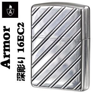 【ZIPPO】アーマージッポ16EC2★両面縦深彫り★Heavy Wall Armour